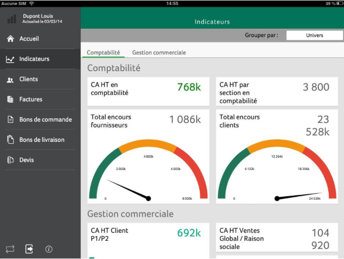 Les apps SAGE Customer View et Sage Report